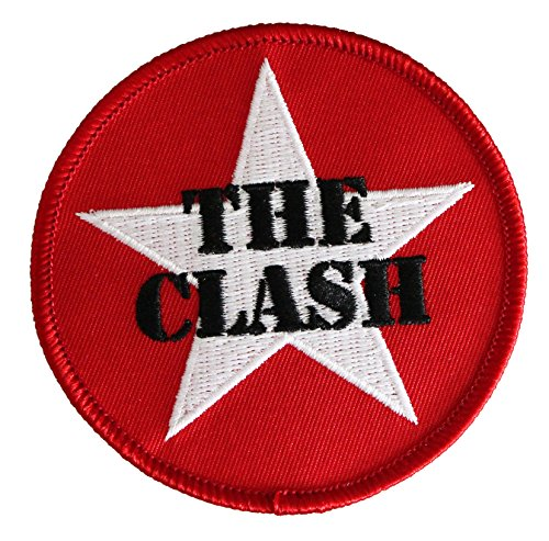 "THE CLASH Star Logo, Officially Licensed Original Artwork, High Quality Iron-On / Sew-On, 3"" x 3"" Embroidered PATCH toppa"