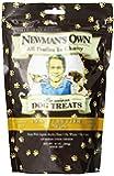 Newman's Own Premium Dog Treats, Peanut Butter, Medium Size, 10-Ounce Bags (Pack of 6)