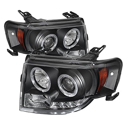 Spyder Auto PRO-YD-FES08-DRL-BK Projector Headlight (2008 Escape Headlight Assembly compare prices)