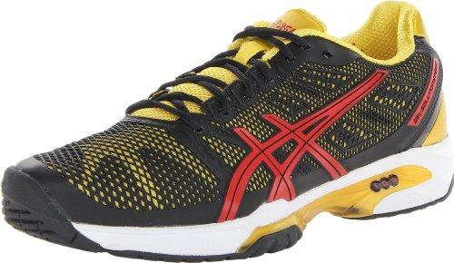 ASICS Men's Gel-Solution Speed 2 Tennis Shoe,Black/Fiery Red