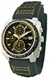 Kahuna K2V-0019G Mens Black And Green Velcro Strap Watch