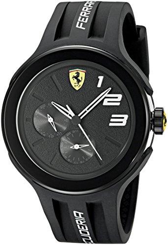 Ferrari Scuderia FXX 0830225 46 mm Plástico de silicona de color negro para hombre reloj Mineral