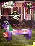 Halloween Inflatable - Happy Hallowiener - 6.5 Feet - LED Lights Dog Inflatable