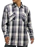 (コスビー) cosby 大きいサイズ メンズ シャツ 長袖 ミリタリー チェック レギュラー 秋 3color 5L ブラック
