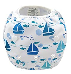 SAIL BOATS SWIMMING DIAPER