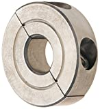 Climax Metal H2C-037-S Shaft Collar, Stainless Steel, Two Piece , Clamp Style, 3/8