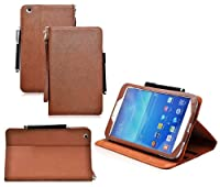 COD(TM) Stand Leather Case For Samsung Galaxy Tab 3 8 inch 8.0 (Brown) by CrazyOnDigital