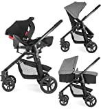 Graco EVO 3-in-1 Travel System (inc Carseat & Carrycot) Slate Grey