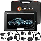 OBD2U KFZ Diagnosegerät für alle Fahrzeuge inkl. OBD & OBD2 Kabel / PKW Tiefendiagnose universal Auto Diagnose CAN-BUS