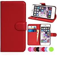 ZTE Grand X Max, X Max+ Case, Ebest Premium Folio Wallet Stand PU Leather Case with cash/card holder case for ZTE Grand X Max Z787, X Max+ Max Plus Z987, red
