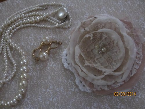 Adjustable Beaded Shabby Chic Bridal Wrist Corsage, Wedding Corsage, Bridal Party Corsage, Shower Gift