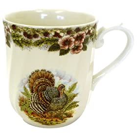 Churchill China Thanksgiving Turkey Multi Colors Mugs
