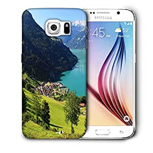Snoogg Light Blue Water Printed Protective Phone Back Case Cover For Samsung Galaxy S6 / S IIIIII