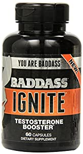 Baddass Nutrition Ignite Testosterone Booster Capsules, 60 Count (Pack of 6)