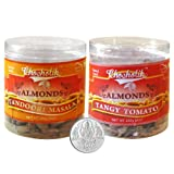 Chocholik Dry Fruits - Almonds Tandoori Masala And Tangy Tomato With 5gm Pure Silver Coin - Diwali Gifts - 2 Combo...