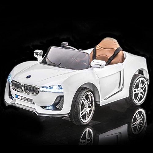 sportrax bmw i8 style kids ride on car battery powered remote control wfree mp3 player white