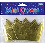Mini Crowns 6/Pkg-Gold