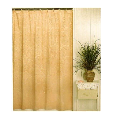 Sanibel Seashell Taupe Beach Shower Curtain Bath Shower