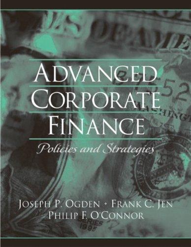 Advanced Corporate Finance