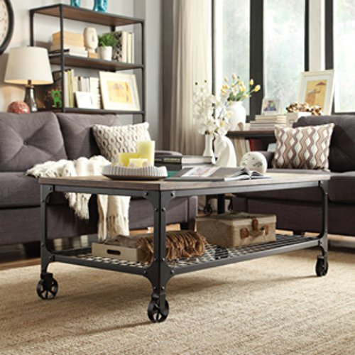 Industrial Wheeled Coffee Table