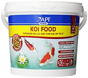 Buy aquarium pharmaceuticals api pond fish food koi 4mm for Best food for koi fish