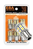6 x EBA LED 12V115613 LED Replacement Bulb 1141/1156 Base Tower 12V DC 13 LED Natural White