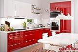 Küchenzeile Küchenblock 16893 L-Form 250 x 210 cm grau