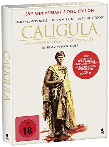 Tinto Brass' Caligula - Aufstieg und Fall eines Tyrannen - Das Original (35th Anniversary Special 3-Disc Edition, Digipak mit Schuber u. Goldprägung + 40 seitiges Booklet) [DVD + Blu-ray]