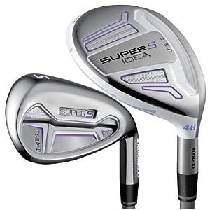 Adams Golf Super S Golf Iron Set (Left Hand, Graphite, Ladies, 4-SW)