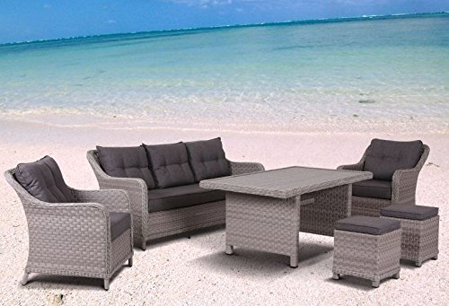 Hohe XXL Dinning Poly Rattan Lounge