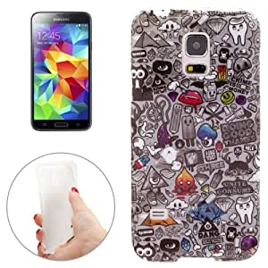 Crazy4Gadget Gray Life Pattern TPU Case for Samsung Galaxy S5 mini / G800