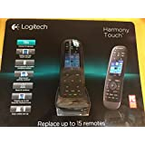 LOGITECH HARMONY TOUCH REMOTE CONTROL BLACK 915-000252 w/ Swipe & Touch Screen
