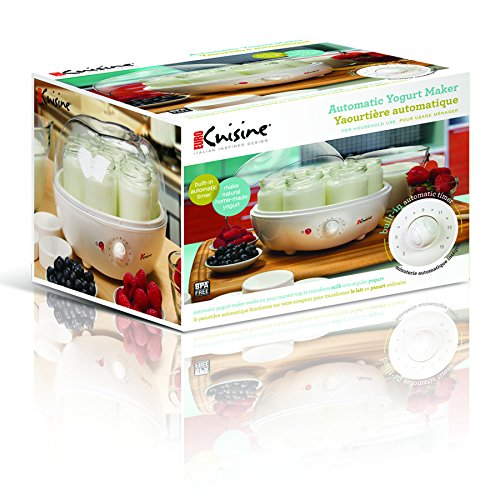 Euro cuisine ym100 automatic yogurt maker import it all for Automatic yogurt maker by euro cuisine