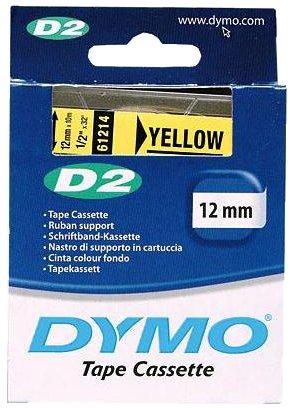 Nastro di supporto Dymo D2 - 12 mm x 10 m - giallo