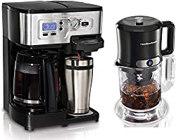 Hamilton Beach 49983 2Way Single Serve Coffee Brewer & Iced Coffee/Tea Maker Kit by Hamilton Beach