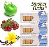 #9: 30x SmokerFuchs® 10x APFEL, 10x KIRSCHE, 10x VANILLE Filterdepots mit 0,0 mg Nikotin – Depots im günstigen Sparset – für die elektronische Zigarette