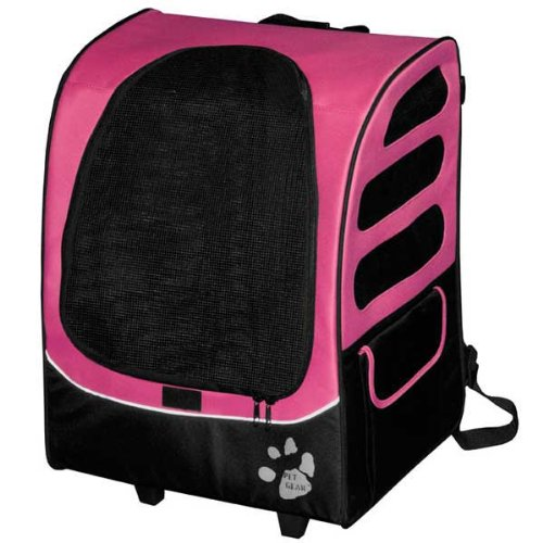 Pet Gear I-Go2 Plus Traveler Rolling Backpack Carrier For Cats And Dogs Up To 25-Pound, Pink