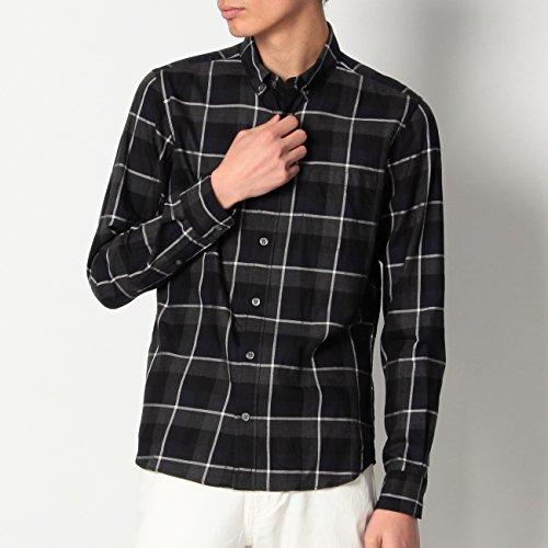 (ボイコット)BOYCOTT Wチェック柄コットンシャツ ブラック(219) 04(LL)