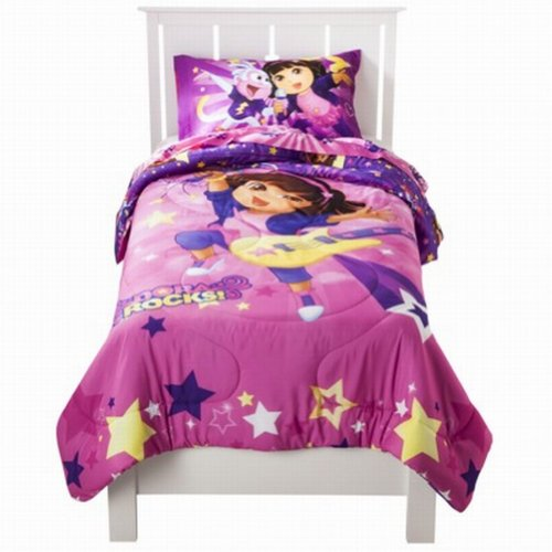 Nickelodeon Dora Rocks Ultra Soft Microfiber Twin Comforter Bed Cover Bedding front-1053689
