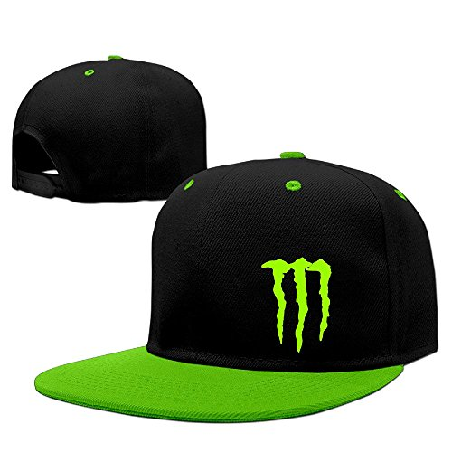 Custom Unisex Energy Claw Snapback Baseball Cap Hats KellyGreen (Monster Hats Energy compare prices)