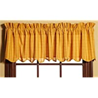 Welcome Valance Golden Yellow Scalloped Lined 16x72