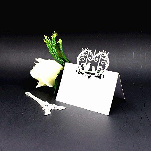 Lot de 50pcs Marque Place Décoration de Table - Blanc