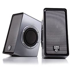 GOgroove SonaWAVE O2 USB Powered Multimedia Computer Speaker System with Passive SubWoofers and Volume Control for Laptops , Mac , Notebooks , Netbooks , Desktops and More PCs