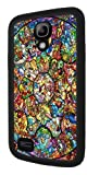 Disney All Characters Stained Glass Samsung Galaxy S4 MINI Rubber Case