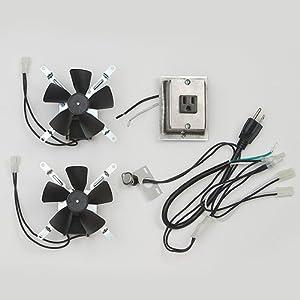 Montigo RFK1003 Fireplace Heat Activated Fan Blower Complete Kit **New Original Factory Model**