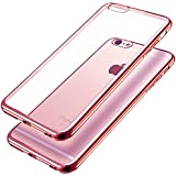iPhone 6S Case, KKtick® Premium Ultra Slim Lightweight Electroplate Plating TPU silicone bumper Cases for iPhone 6 Rose