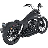 Vance & Hines Shortshots Staggered Exhaust System - Black, Color: Black 47217