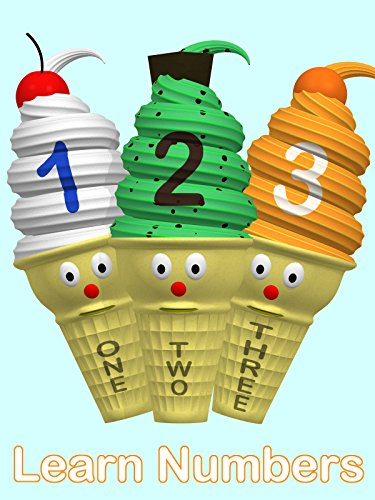 Ice Cream Cones Teach Numbers 1 to 10