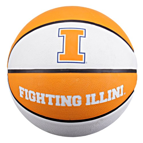NCAA Illinois Fighting Illini Collegiate Deluxe Official Size Rubber Basketball ncaa illinois fighting illini 3 by 5 foot flag with grommets