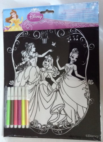 Disney Princess Velvet Art Coloring with Markers